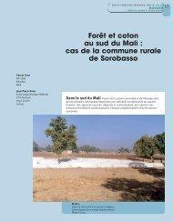 Forêt et coton au sud du Mali - Bois et forêts des tropiques - Cirad