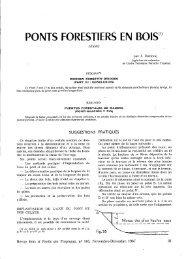"""PONTS FORESTIERS EN BOIS"""" - Bois et forêts des tropiques"""
