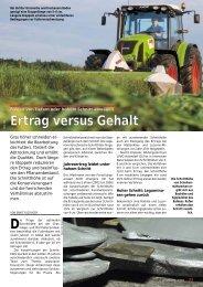 Ertrag versus Gehalt - Gras'09