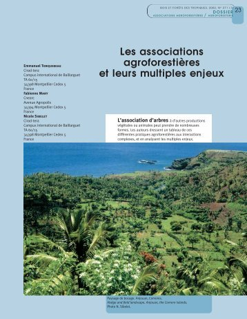Les associations agroforestières et leurs multiples ... - ResearchGate