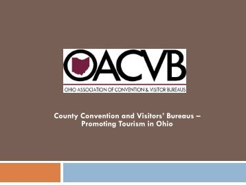 romoting Tourism in Ohio - County Commissioners' Association of ...