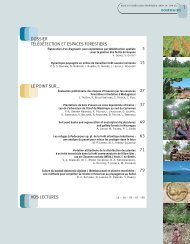 Sommaire - Bois et forêts des tropiques