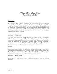 Public Records Request Policy - New Albany, Ohio