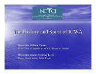 The History and Spirit of ICWA - National Council of Juvenile and ...