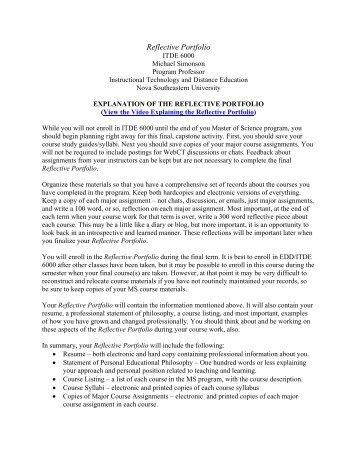 portfolio reflection essay example - Portfolio Essay Example