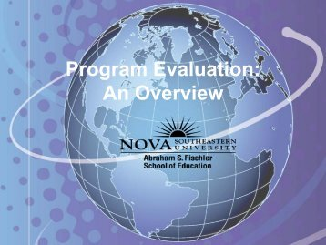 Program Evaluation: An Introduction - 1