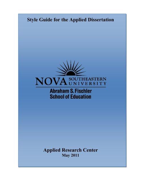 Dissertation style manual