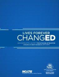 Fischler School Catalog and Student Handbook 2013- 2014 - Nova ...