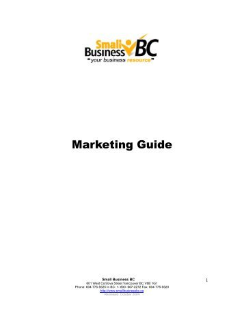 Business Idea FAQ's - Small Business BC