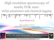 High resolution spectroscopy of nearby FGK stars - GREAT-ESF ...