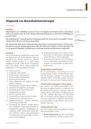 Artikel Diagnostik von Blasenfunktionsstörungen