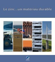 Le zinc...un matériau durable - International Zinc Association