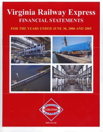 2006 Audited Financial Statement - Virginia Railway Express
