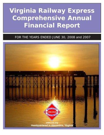 2008 Audited Financial Statement - Virginia Railway Express