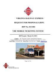 RFP No. 013-004 VRE MOBILE TICKETING SYSTEM - Virginia ...