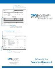 Southwest Securities Statements - Digital Marketing Services