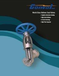 Bellows Seal Valves Brochure - Conval Inc