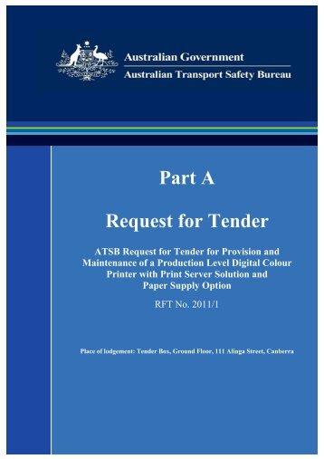 RFT - Part A - Statement of Requirement - Australian Transport ...