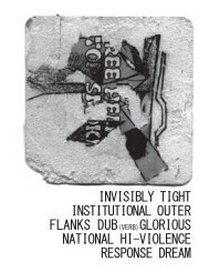 INVISIBLY TIGHT INSTITUTIONAL OUTER FLANKS DUB(VERB ...