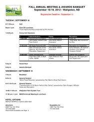 FALL ANNUAL MEETING & AWARDS BANQUET ... - ndrpa