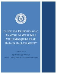 Guide for Epidemiologic Analysis of West Nile Virus Mosquito Data