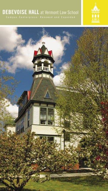 Vermont Law School brochure on Debevoise Hall     - Energysmiths