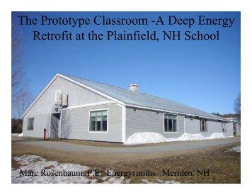 Plainfield School Deep Energy Retrofit - Energysmiths