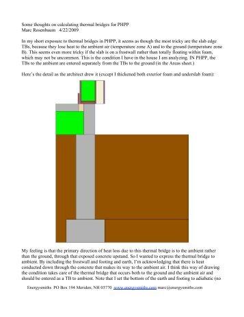 Passivehouse thermal bridge - Energysmiths