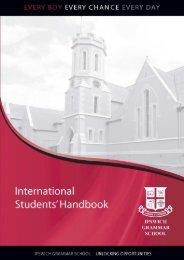 International Student Handbook 150210.indd - Ipswich Grammar ...