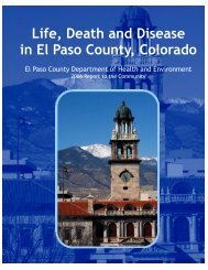 Life, Death, and Disease in El Paso County, Colorado 2006
