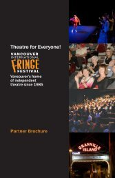Theatre for Everyone! - Vancouver Fringe Festival