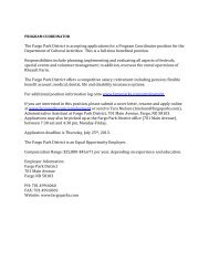 The Fargo Park District is accepting applications for a ... - ndrpa