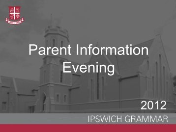 Download Slides - Ipswich Grammar School