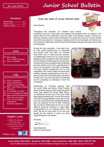 20062013 - Ipswich Grammar School