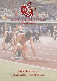 2013 Track and Field Handbook - Ipswich Grammar School