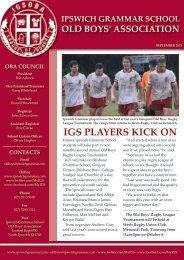 September 2011 - Ipswich Grammar School