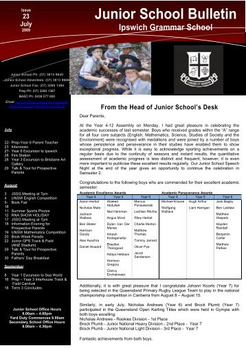 23072009 - Ipswich Grammar School