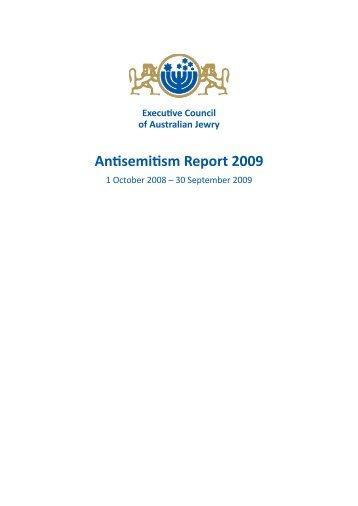 Antisemitism Report 2009 - World Jewish Congress