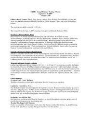 NDRPA Annual Business Meeting Minutes September 20, 2007 ...