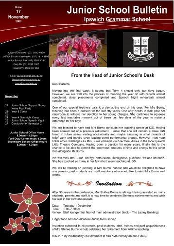 17112009 - Ipswich Grammar School