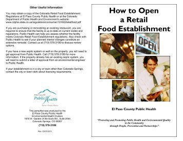 Establishment - El Paso County Public Health