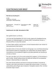 Zweitbesuche der AQS; Aktualisierter ORS - in Rheinland-Pfalz