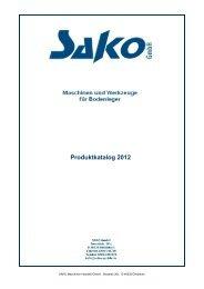 Produktkatalog 2012 - sako-gmbh.de