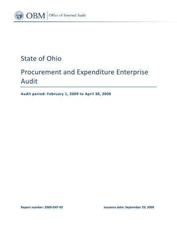 Procurement and Expenditure Enterprise Audit - Ohio Shared Services