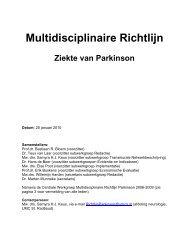 Inleiding richtlijn de ziekte van Parkinson - Medisch Contact