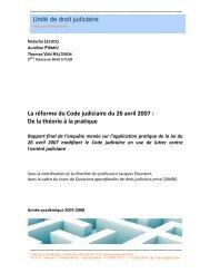 rapport de synthèse - Procedurecivile.be