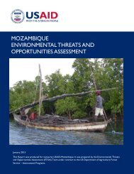 Mozambique Environmental Threats and Opportunities Assessment ...