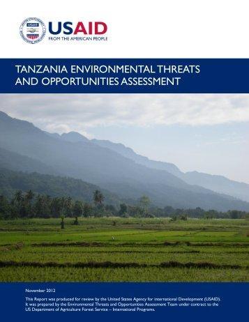 Tanzania Environmental Threats and Opportunities Assessment 2012