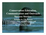 Conservation Education, Communication and Outreach Success ...