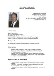 JAN VINCENT ROSTOWSKI - Project Finance Poland